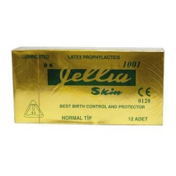 Jellia Skin - Jellia Skin Prezervatif Normal Tip 12 Adet