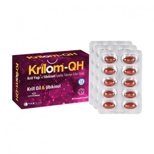 TAB İlaç Sanayi A.Ş - Krilom-QH Krill Oil & Ubikinol 30 Yumuşak Kapsül