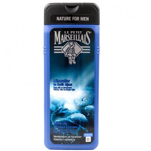 Le Petit Marseillais - Le Petit Marseillais For Men Minerallar ve Sedir Ağacı Duş Jeli ve Şampuan 400ml
