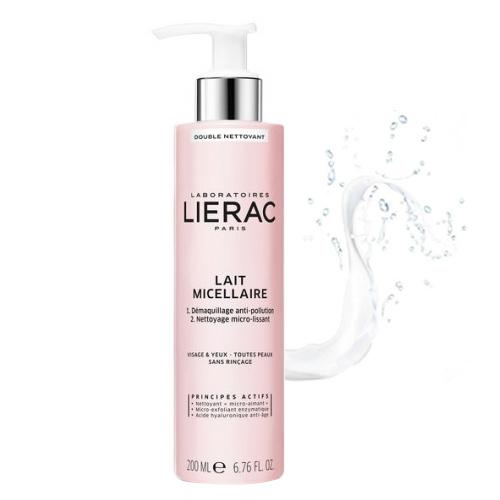 Lierac Ürünleri - Lierac Double Cleansing Micellar Milk Face&Eyes 200ml