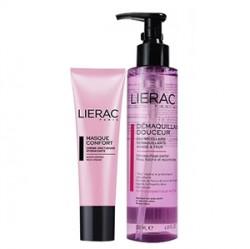 Lierac Ürünleri - Lierac Masque Comfort Mask 50ml+Demaquillant Douceur Cleansing Water 200ml HEDİYE