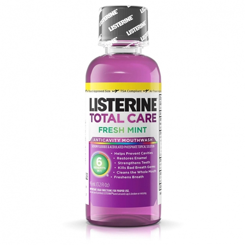 Listerine Gargara - Listerine Total Care Fresh Mint Seyahat Boy Gargara 95 ml
