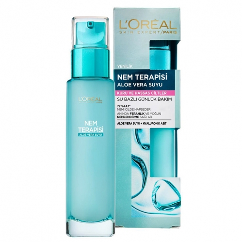 Loreal Paris Ürünleri - Loreal Paris Nem Terapisi Aloe Vera Suyu 70ml - Kuru ve Hassas Ciltler