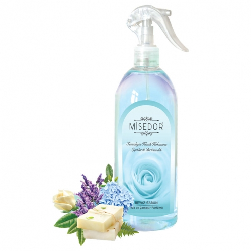 Misedor - Misedor Oda ve Çamaşır Parfümü Beyaz Sabun 500 ml