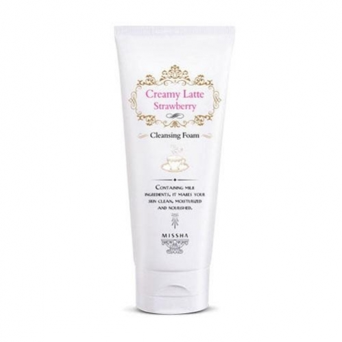 Missha - Missha Creamy Latte Cleansing Foam (Strawberry) 172ml