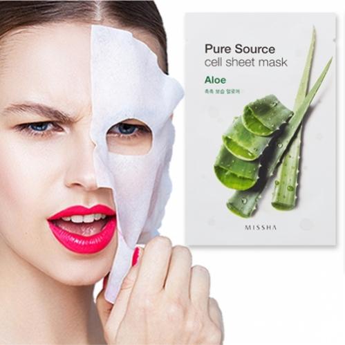 Missha - Missha Pure Source Cell Sheet Mask (Aloe) 21g
