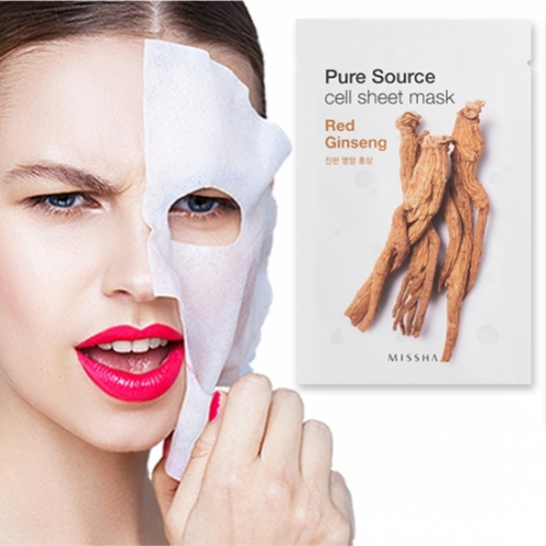 Missha - Missha Pure Source Cell Sheet Mask (Red Ginseng) 21g
