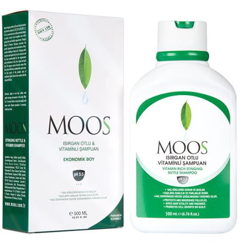 Moos Ürünleri - Moos Isırgan Otlu Saç Dökülmesine Karşıtı Ekonomik Şampuan 500ml