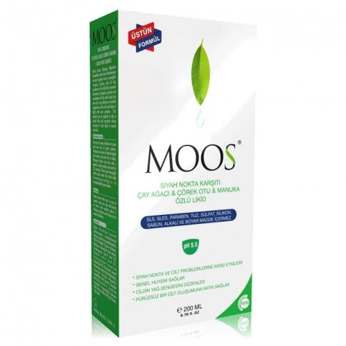 Moos Ürünleri - Moos Likid Siyah Nokta Karşıtı Çay Ağacı ve Çörek Otu 200 ml