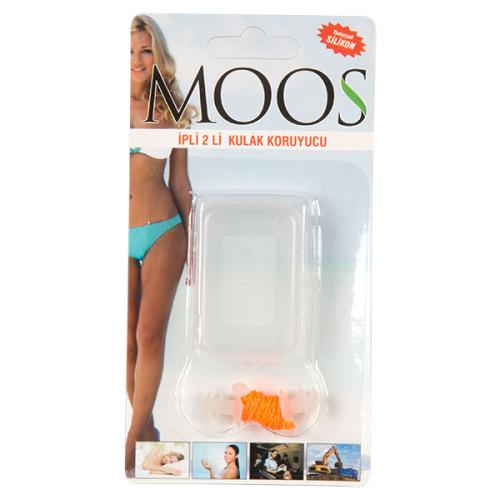 Moos Ürünleri - Moos İpli Silikon Kulak Tıkacı 2'li