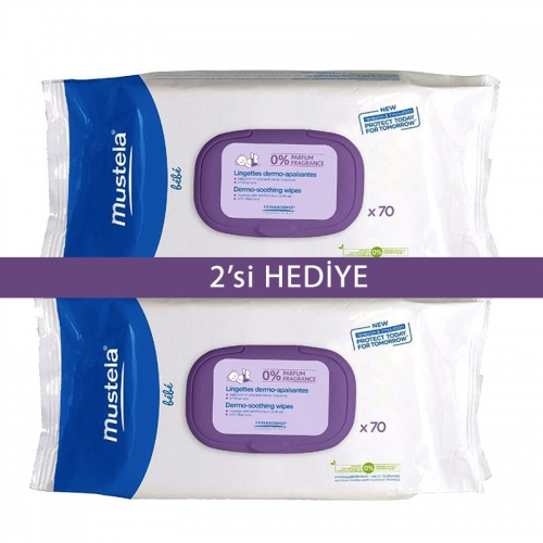 Mustela Dermo Soothing Wipes 2x70 adet