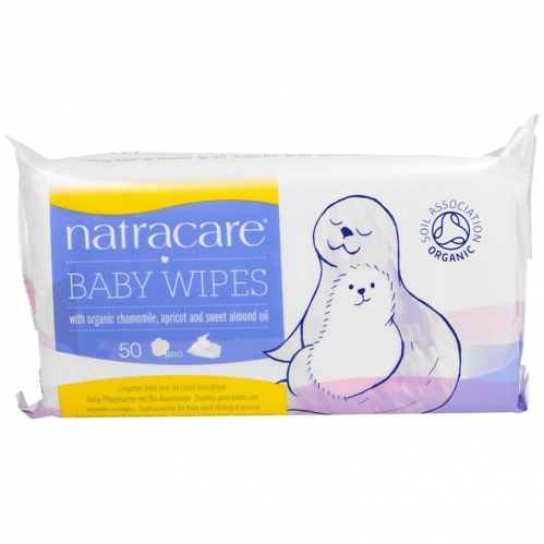 Natracare Ürünleri - Natracare Organik Bebek Mendili 50 Adet
