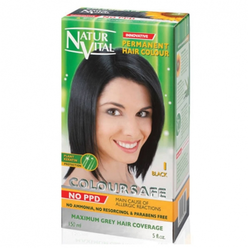 NATUR VITAL - Natur Vital Coloursafe Hair Colour 1 150ml