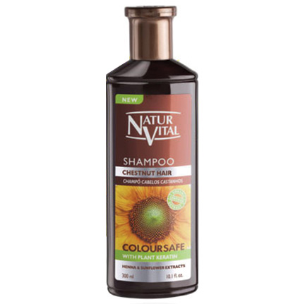 NATUR VITAL - Natur Vital Henna Coloursafe Chesnut Hair Shampoo 300ml