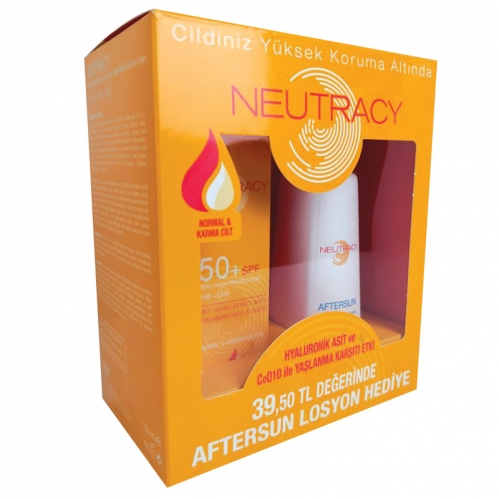 Neutracy - Neutracy Normal ve Karma Cilter İçin SPF50 Su Bazlı Güneş Kremi 70ml + After Sun Losyon 150ml HEDİYE