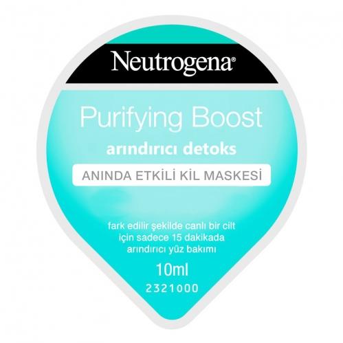 Neutrogena Ürünleri - Neutrogena Purifying Boost Arındırıcı Detoks Maskesi 10 ML
