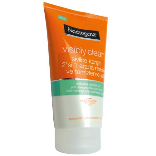 Neutrogena Ürünleri - Neutrogena Visibly Clear 2si 1 Arada Maske ve Temizleme Jeli 150ml