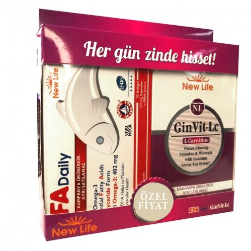 New Life - New Life EFA Daily 30 Kapsül + GinVit-Lc 30 Tablet - Avantajlı SET