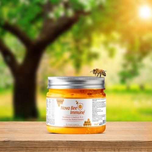 Nova Nutrica - Nova Nutrica Nova Bee Immune Propolis Complex Zerdeçallı 250 gr