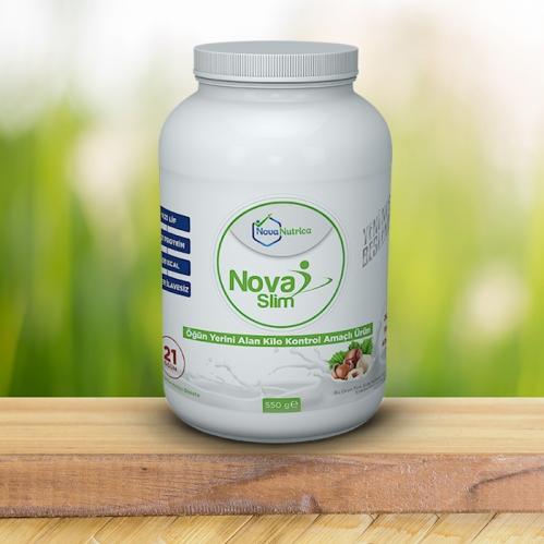 Nova Nutrica - Nova Nutrica Öğün Yerini Alan Kilo Kontrol Amaçlı Ürün Doğal Fındık Aroması 550 gr