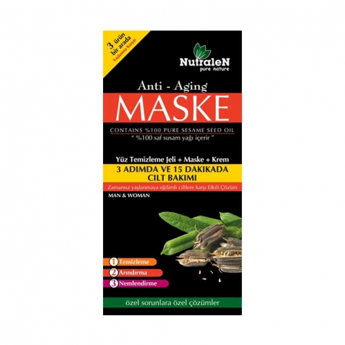 Nutralen - Nutralen Anti Aging Yüz Temizleme Jeli + Maske + Krem