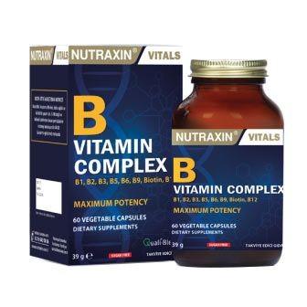 Nutraxin Ürünleri - Nutraxin B Vitamin Complex 60 Kapsül