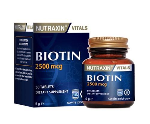 Nutraxin Ürünleri - Nutraxin Biotin 2500mcg 50 Tablet