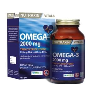 Nutraxin Omega 3 Balık Yağı 2000 mg 60 SoftGel