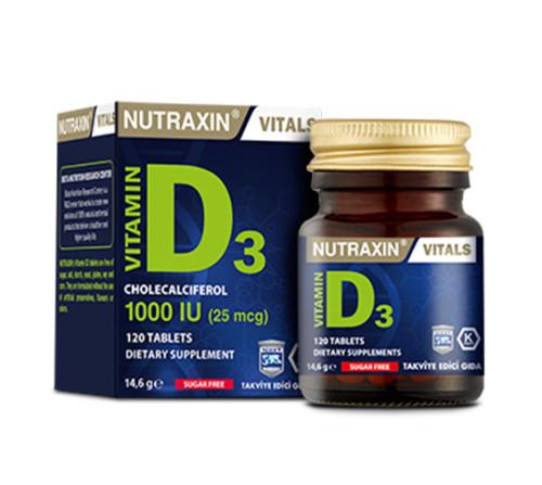 Nutraxin Ürünleri - Nutraxin Vitamin D3 120 Tablet