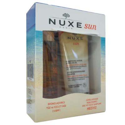 Nuxe Bronzlaştırıcı Yüz ve Vücut Yağı Spf10 150ml + Güneş Sonrası Nemlendirici Şampuan Hediye