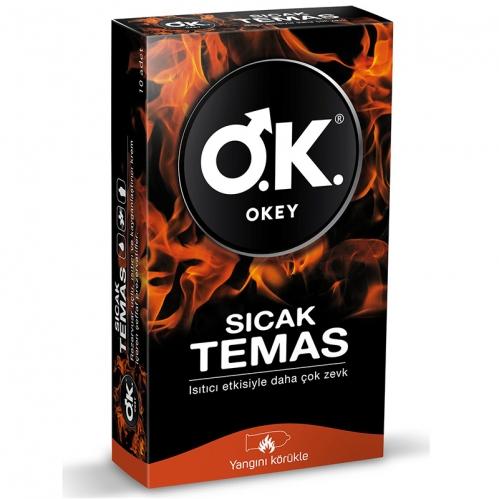 Okey - Okey Sıcak Temas Prezervatif 10 adet