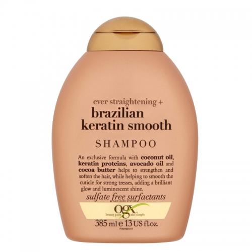 Organix Brazilian Keratin Düz Saçlar için Şampuan 385ml