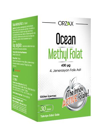 Orzax - Orzax Ocean Methyl Folat 30 Tablet