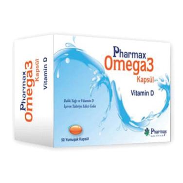 Pharmax - Pharmax Omega3 Kapsül Vitamin D 50 Kapsül