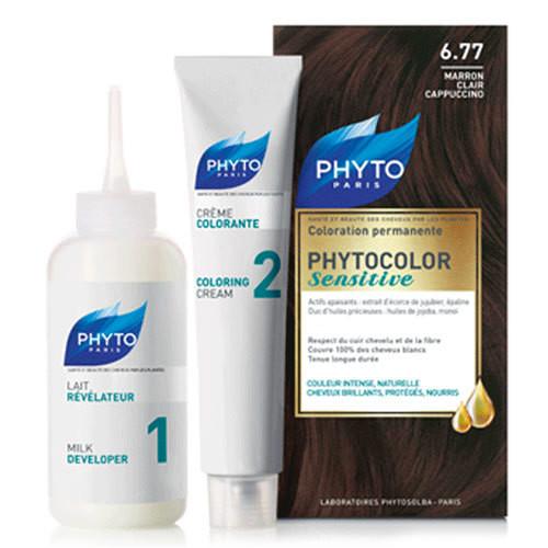 Phyto Saç Bakım - Phyto Phytocolor Sensitive Saç Boyası 6.77 Açık Capuccino Kestane