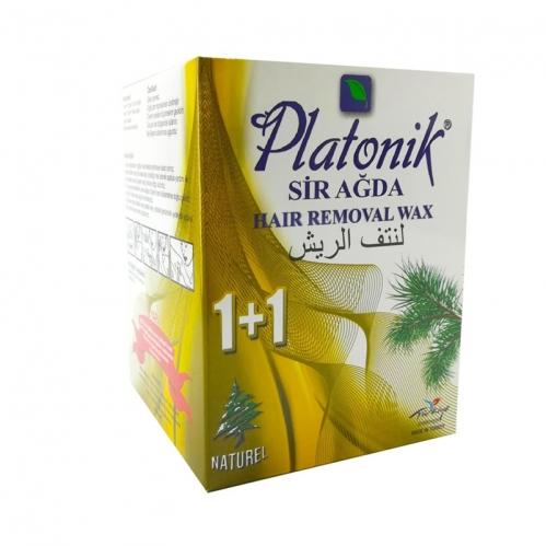 Platonik - Platonik Bitkisel Sir Ağda 1+1 Naturel 120gr+70gr