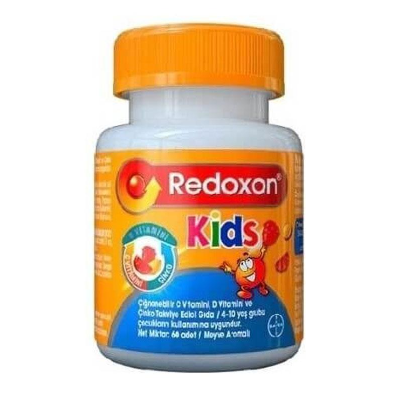 Redoxon Kids C Vitamini D Vitamini Ve Cinko Iceren Cignenebilir Tablet 60 Adet Dermoeczanem Com