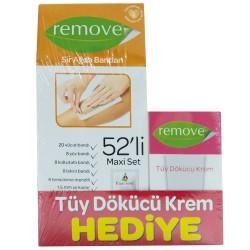 Remove Ürünleri - Remove Sir Ağda Bandı 52li Maxi Set Tüy Dökücü Krem HEDİYE