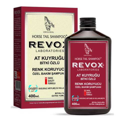 Revox - Revox At Kuyruğu Bitki Özlü Renk Koruyucu Şampuan 400ml
