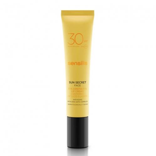Sensilis - Sensilis Sun Secret Protective Anti Aging Eye Contour & Lip Cream Spf30 15mL.