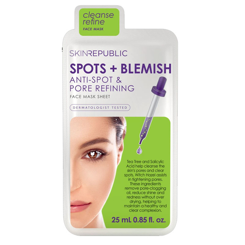 Skin Republic - Skin Republic Spots + Blemish Face Mask Sheet 25 ml