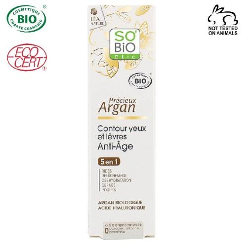 So Bio Etic - So Bio Etic Organik Argan Anti-Aging Göz ve Dudak Çevresi Kremi 15ml