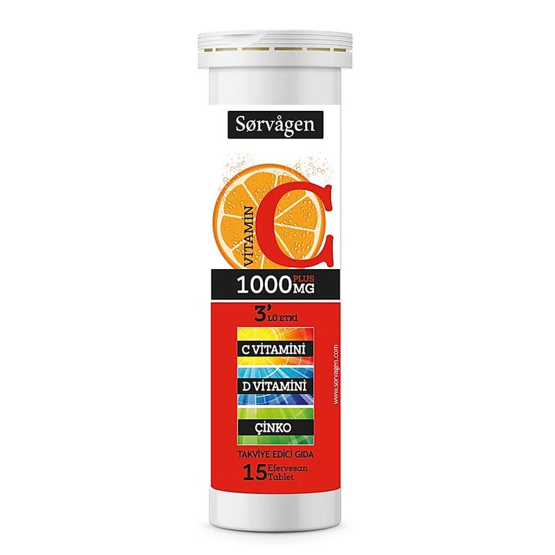 Sorvagen Vitamin C Plus 1000 Mg C Vitamini D Vitamini Cinko Dermoeczanem Com