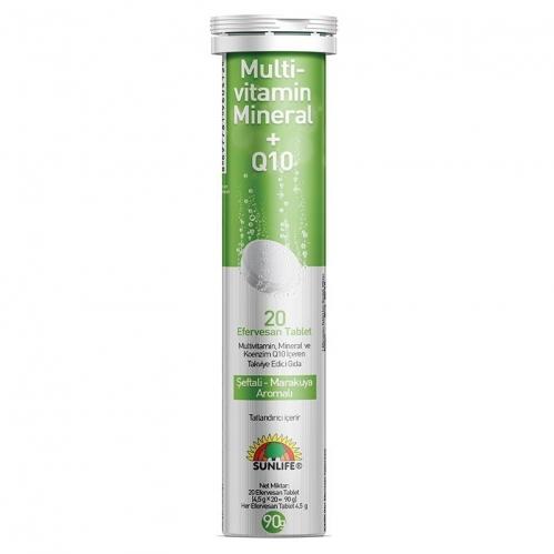 Sunlife - Sunlife Multivitamin & Mineral + Q10 Efervesan 20 Tablet