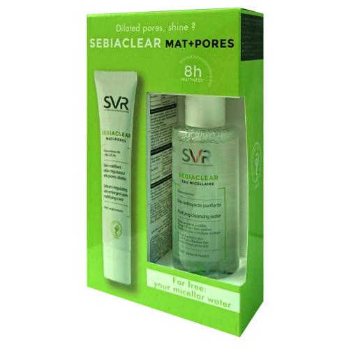 SVR Ürünleri - SVR Sebiaclear Mat+Pores Cream 40 ml + Purifying Cleansing Water 75 ml HEDİYE