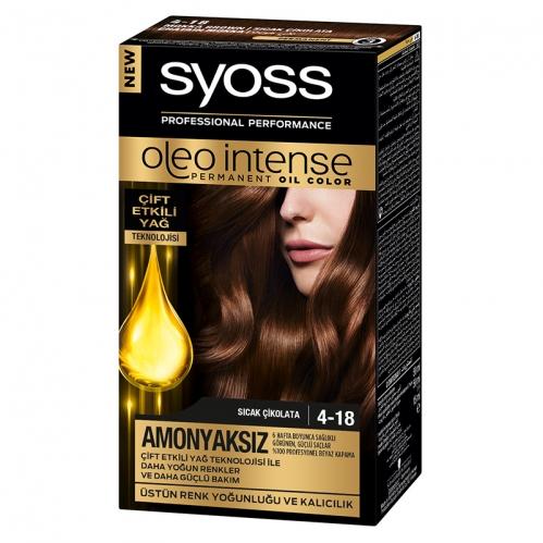 Syoss - Syoss Oleo Intense Saç Boyası 4-18 Sıcak Çikolata 50 ml