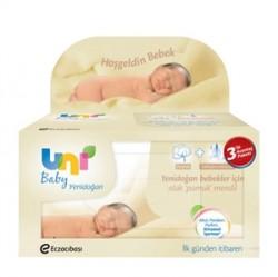 Uni Baby - Uni Baby Islak Pamuk Mendil 3x40 Adet