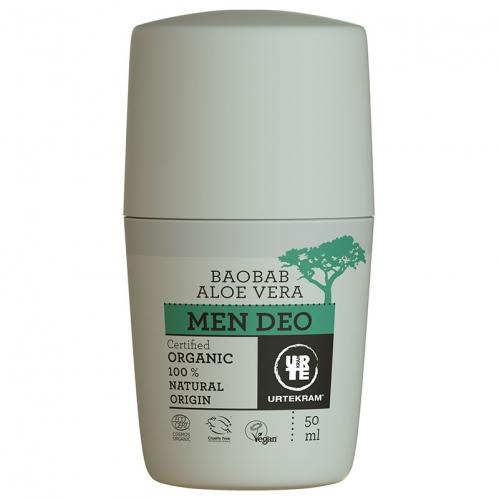 Urtekram - Urtekram Aloe Vera ve Baobab Özlü Erkek Deodorantı 50 ml