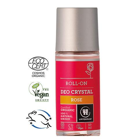 Urtekram - Urtekram Organik Gül Özlü Kristal Roll-On Deodorant 50ml