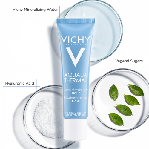 Vichy Aqualia Thermal Rehydrating Cream Rich 30 ml - Thumbnail